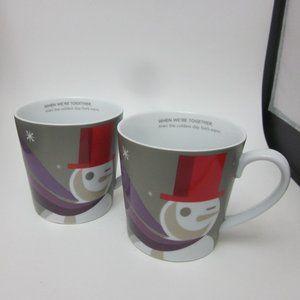Starbucks Christmas snowman mugs